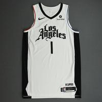 Jerome Robinson - Los Angeles Clippers - Game-Worn City Edition Jersey - 2019-20 Season