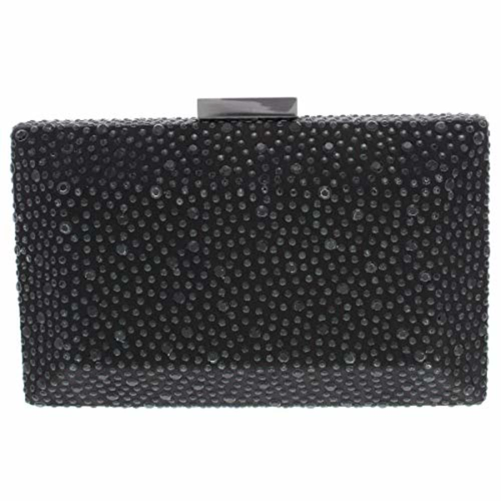 Photo of INC Womens Studded Clutch Minaudiere Handbag