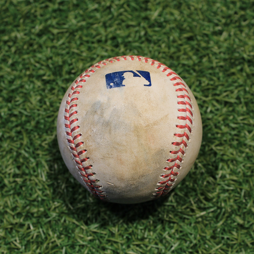 Photo of Game-Used Baseball: Yasmani Grandal 696th Career Hit (CWS @ KC 9/3/20)