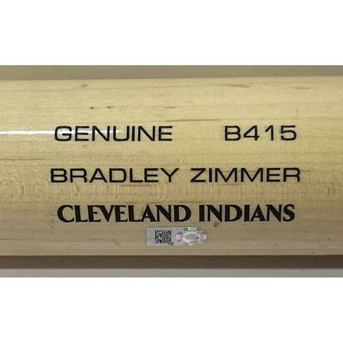 Photo of Game Used Broken Bat - 5/31/2021 White Sox at Indians - Bradley Zimmer RBI Single off Carlos Rodon