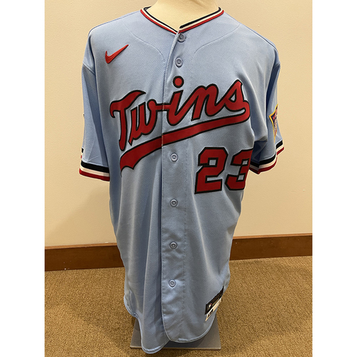 Photo of Minnesota Twins: 2021 Game-Used Home Powder Blue Jersey - Nelson Cruz worn on 7/7/2021 vs CWS going 1-4 and 7/10/2021 vs DET going 3-3 with 1 run scored