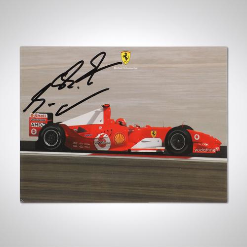 Photo of Official Michael Schumacher 2004 Signed Ferrari Card