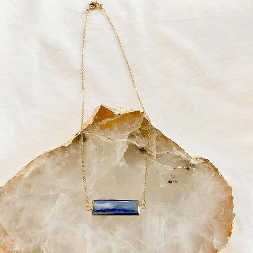 Photo of UMPS CARE AUCTION: Lara Britt Design Kyanite Bar Necklace