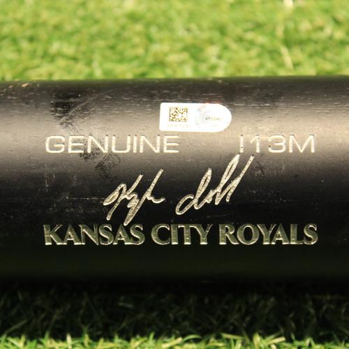 Photo of Game-Used Broken Bat: Kyle Isbel #28 (KC@CLE 4/7/21)