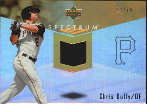 Photo of 2007 Upper Deck Spectrum Swatches Gold #CD Chris Duffy