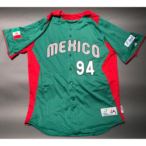 2013 World Baseball Classic Jersey - Mexico Jersey, Teddy Higuera #94