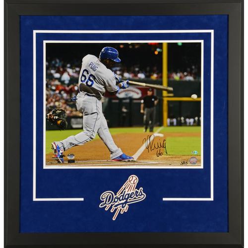 Yasiel Puig Los Angeles Dodgers Deluxe Framed Autographed 16
