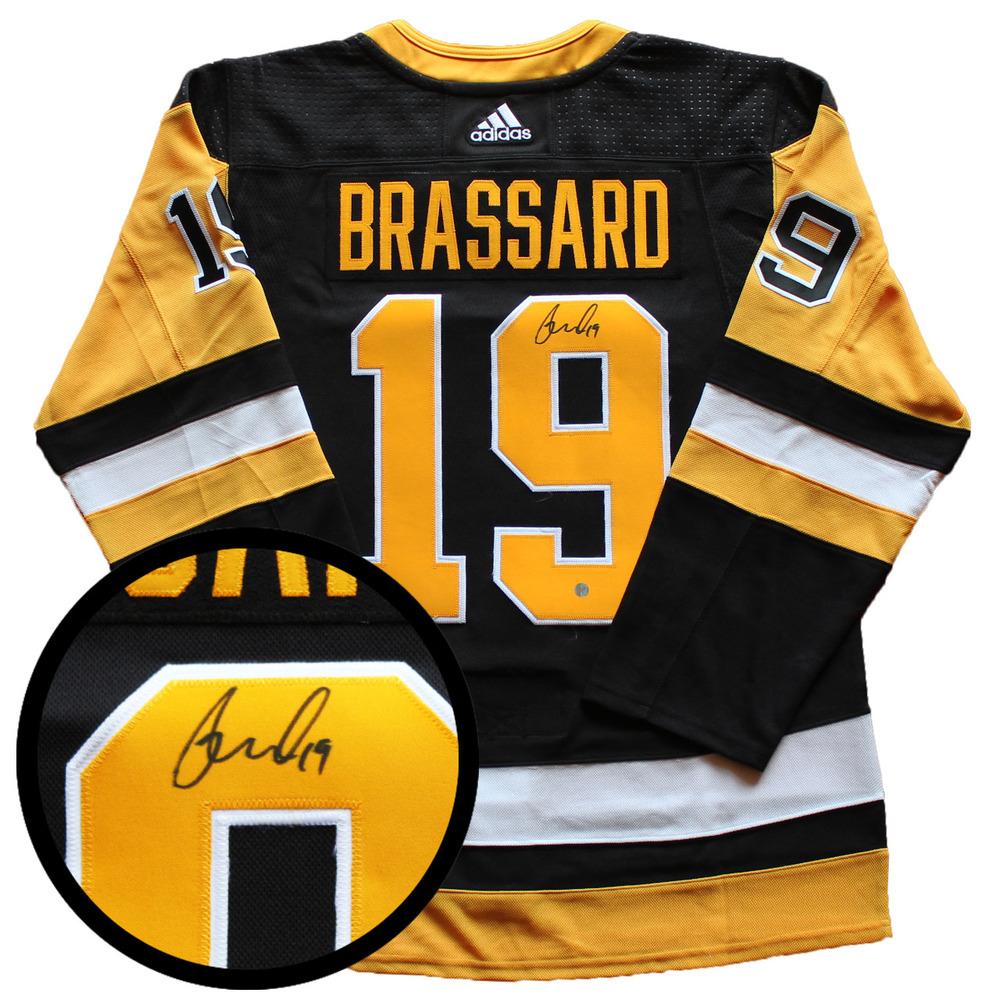 Derrick Brassard Signed Jersey Penguins Pro Black 2017-2019 Adidas