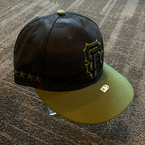 Photo of San Francisco Giants - 2018 Game Used Memorial Day Cap - Hunter Strickland - Size 7 1/4