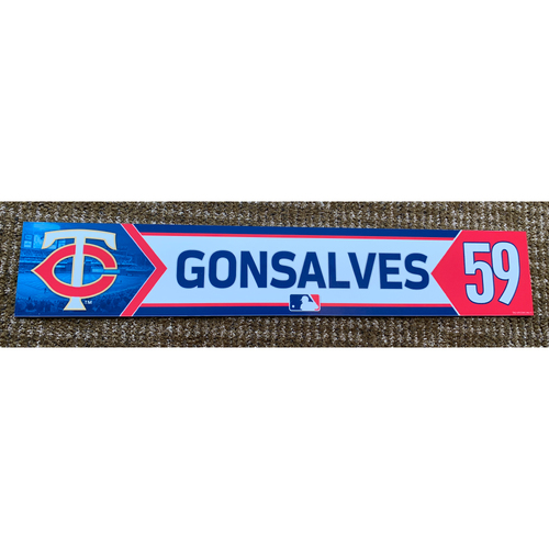 Photo of 2018 Game-Used Stephen Gonsalves Minnesota Twins Lockertag