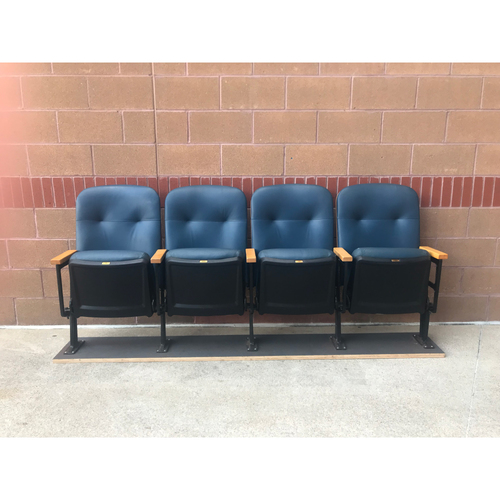Photo of Cardinals Authentics: Four Blue Stadium Seats Numbers 9, 10, 11, and 12