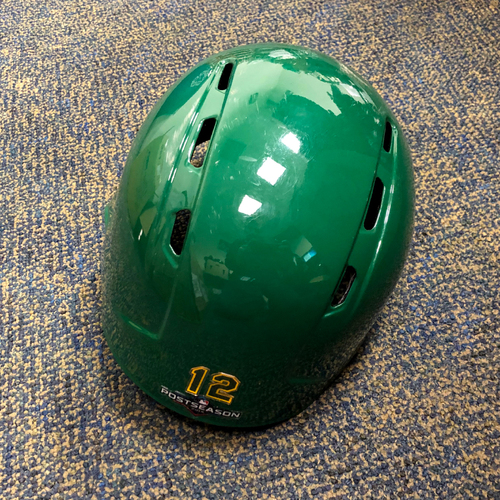 Photo of Sean Murphy Game-Used Kelly Green A.L. Wild Card Game & Regular Season Helmet