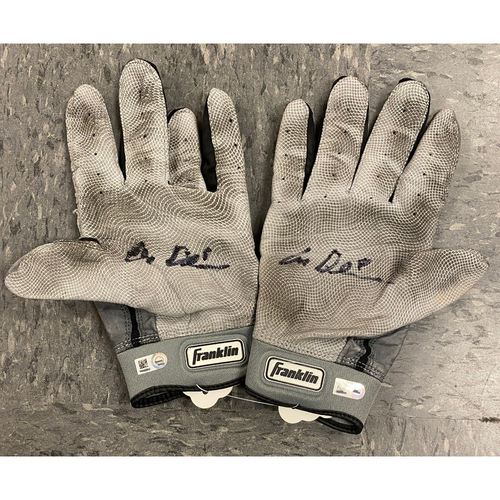 Photo of 2019 Holiday Sale - 2019 Autographed Batting Gloves signed by #8 Alex Dickerson - Gray Franklin Batting Gloves