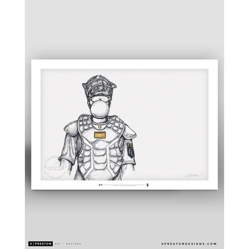 Photo of Limited Edition El Niño Chicle - Salvador Perez Sketch Art Print by S. Preston