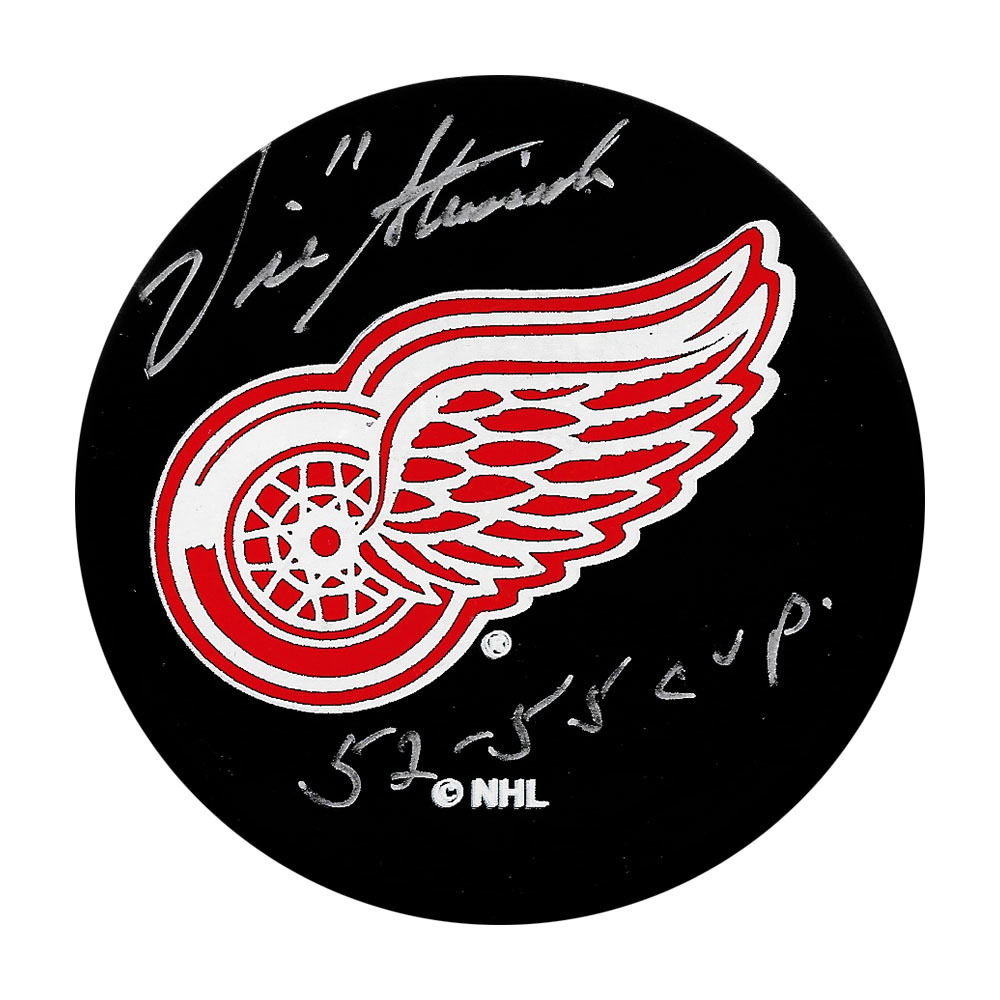 Vic Stasiuk Autographed Detroit Red Wings Puck