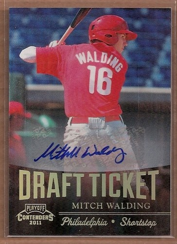 Photo of 2011 Playoff Contenders Draft Ticket Autographs #DT65 Mitch Walding