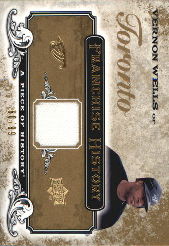 Photo of 2008 UD A Piece of History Franchise History Jersey Gold #FH50 Vernon Wells