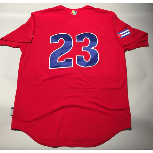 2017 WBC: Cuba Game-Used Batting Practice Jersey, #23