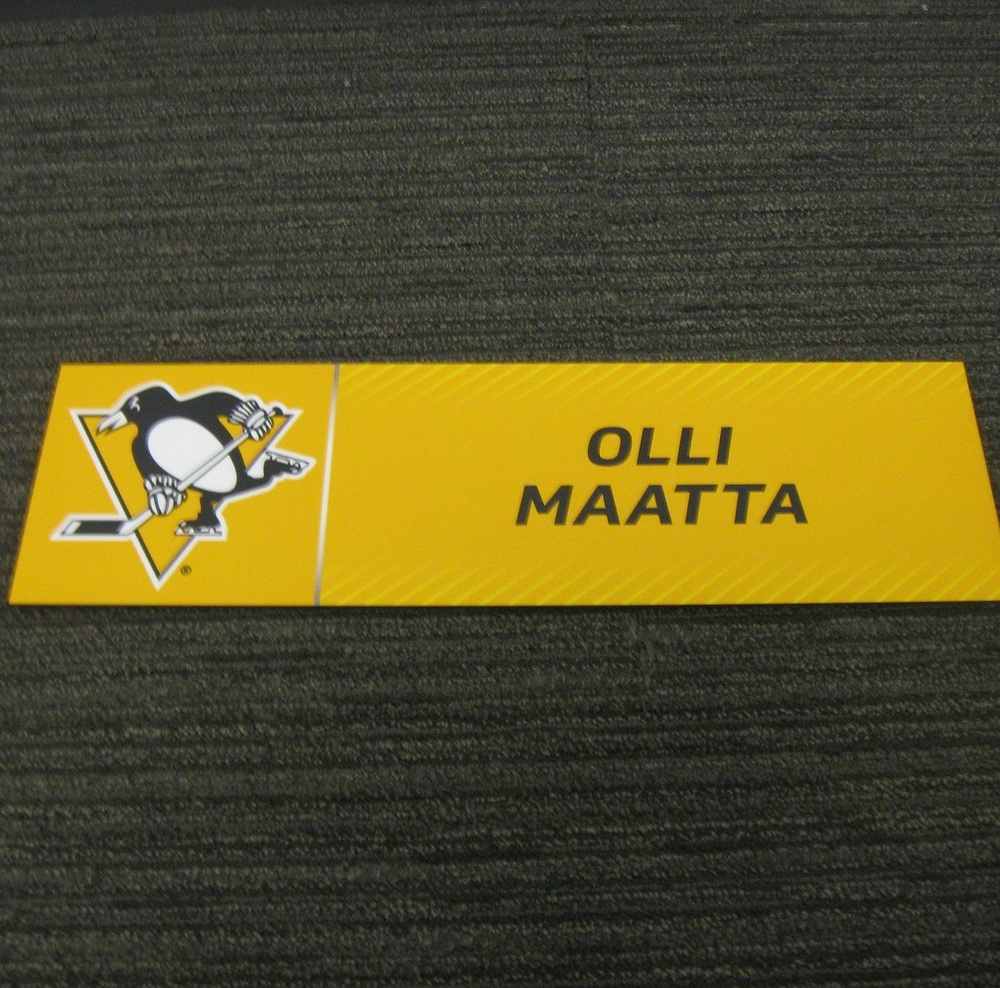 Olli Maatta 2017 Stanley Cup Final Media Name Plate - Pittsburgh Penguins