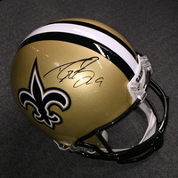PCC - SAINTS DREW BREES SIGNED SAINTS PROLINE HELMET