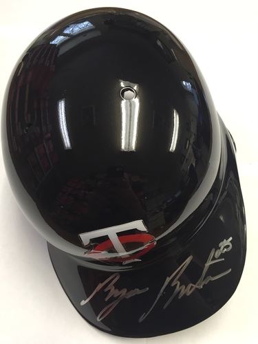Photo of Byron Buxton Autographed Twins Batting Helmet