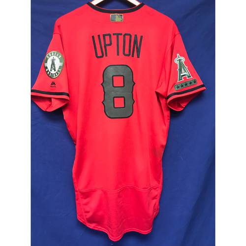 Photo of Justin Upton Game-Used 2018 Memorial Day Jersey