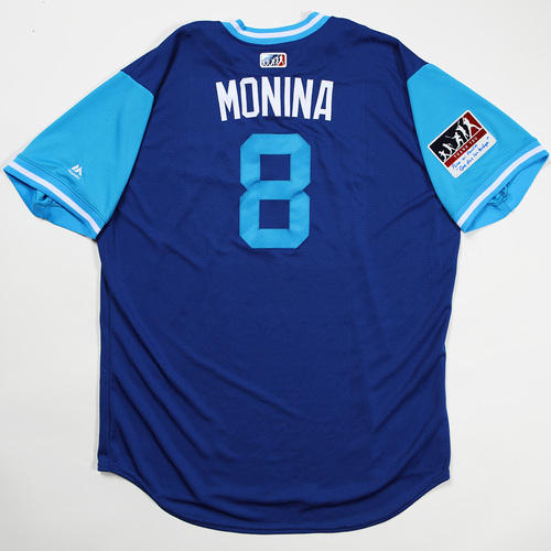 "Photo of Kendrys ""Monina"" Morales Toronto Blue Jays Team Issued Jersey 2018 Players' Weekend Jersey"