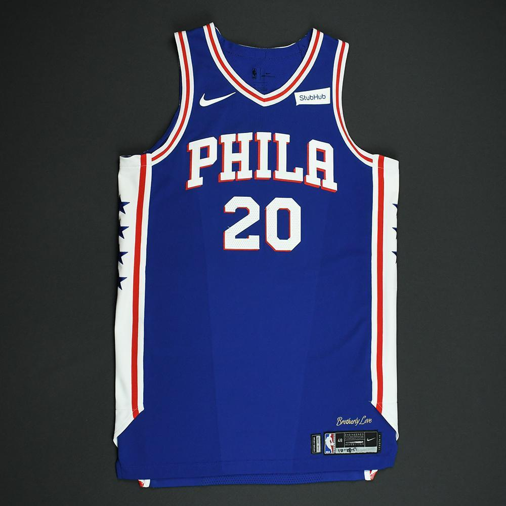 ... 2017-18 Season. Markelle Fultz - Philadelphia 76ers - Game-Worn Rookie  Debut Jersey (Opening Night) 6d47f6f8e