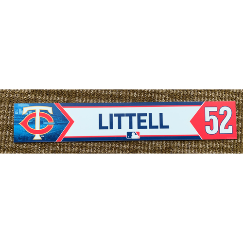 Photo of 2020 Game-Used Zack Littell Minnesota Twins Lockertag