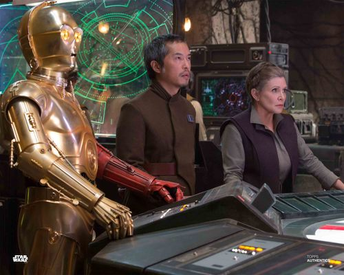 General Leia Organa, C-3PO and Admiral Statura