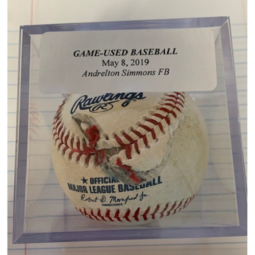 Photo of Game-Used Baseball: Andrelton Simmons Single