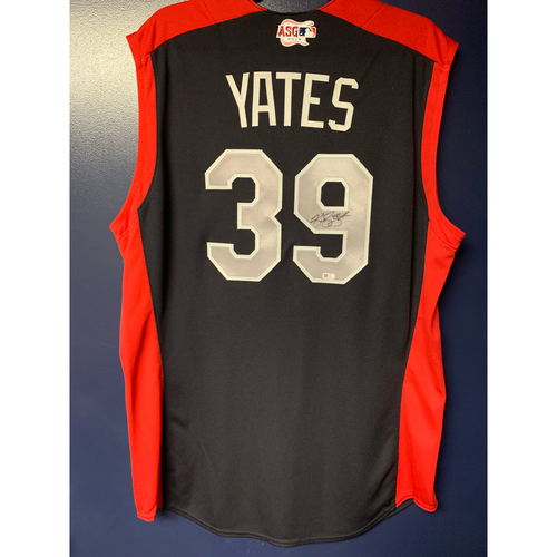 Kirby Yates 2019 Major League Baseball Workout Day Autographed Jersey