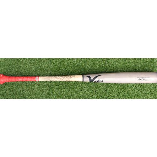 Photo of Game-Used Broken Bat: Ryan O'Hearn Foul (KC @ TEX - 5/31/19)