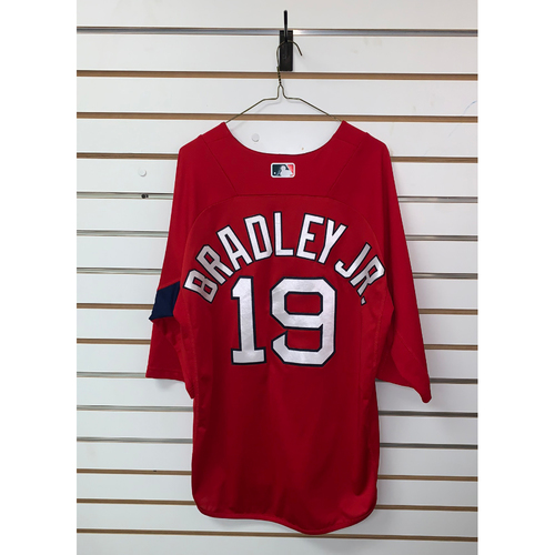 Photo of Jackie Bradley Jr Team Issued Home Batting Practice Jersey