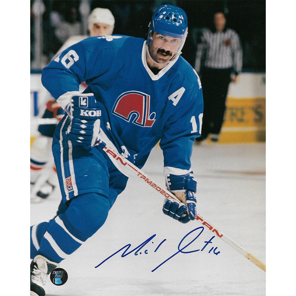Michel Goulet Autographed Quebec Nordiques 8X10 Photo