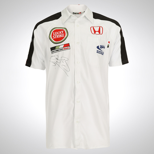 Photo of Honda Racing Team F1 2006 Jenson Button Signed Team Shirt