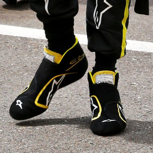 Photo of Esteban Ocon 2020 Race-worn Race Boots - British Grand Prix - Renault DP Worl...