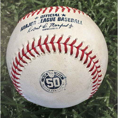 Photo of Game-Used Baseball MIN@MIL 08/11/20 - Tyler Clippard - Avisail Garcia: Solo HR (1)