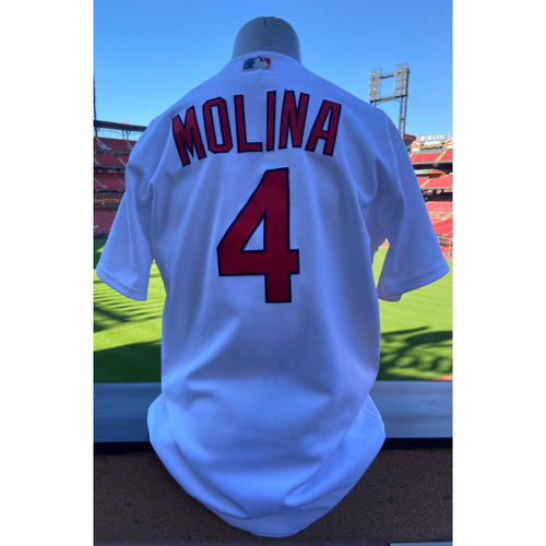 Photo of Cardinals Authentics: Game-Used Yadier Molina Home White Jersey *Home Run August 27th, 2020*