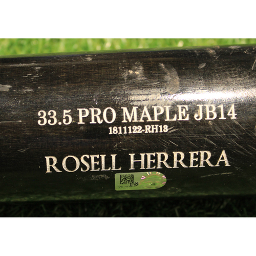 Photo of Team-Issued Broken Bat: Rosell Herrera #12