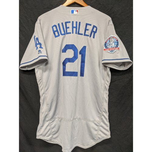 Photo of Walker Buehler Team-Issued 2018 Road Jersey