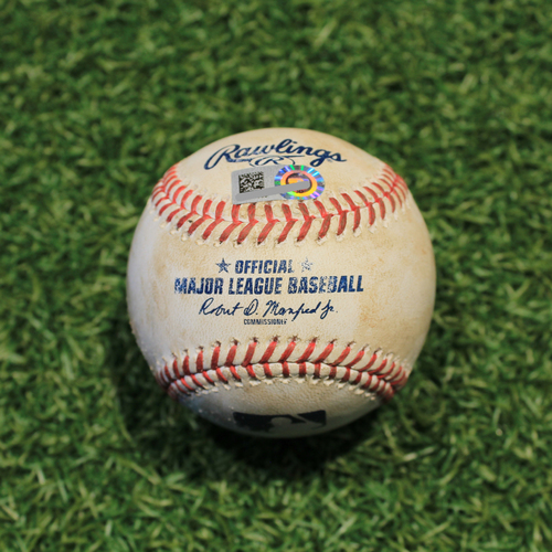 Photo of Game-Used Baseball: Yolmer Sanchez 112th Career Double (CWS @ KC 9/6/20)