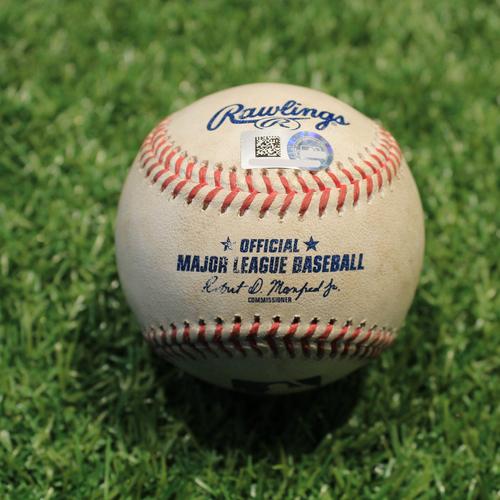 Photo of Game-Used Baseball: Jose Altuve 325th Career Double (HOU@KC 8/19/21)