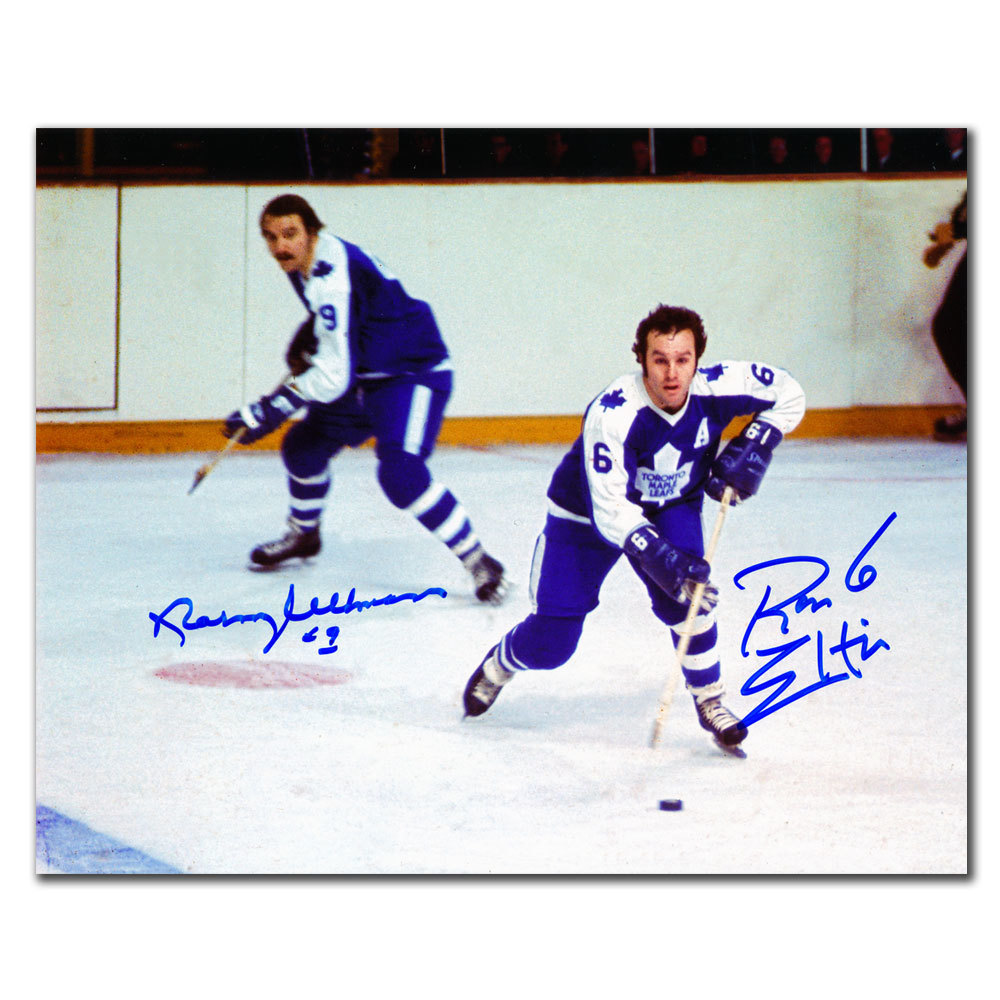 Norm Ullman & Ron Ellis Toronto Maple Leafs Dual Autographed 8x10