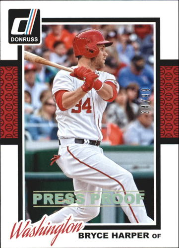 Photo of 2014 Donruss Press Proofs Gold #355 Bryce Harper