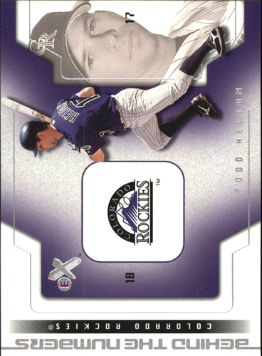 Photo of 2002 E-X Behind the Numbers #22 Todd Helton