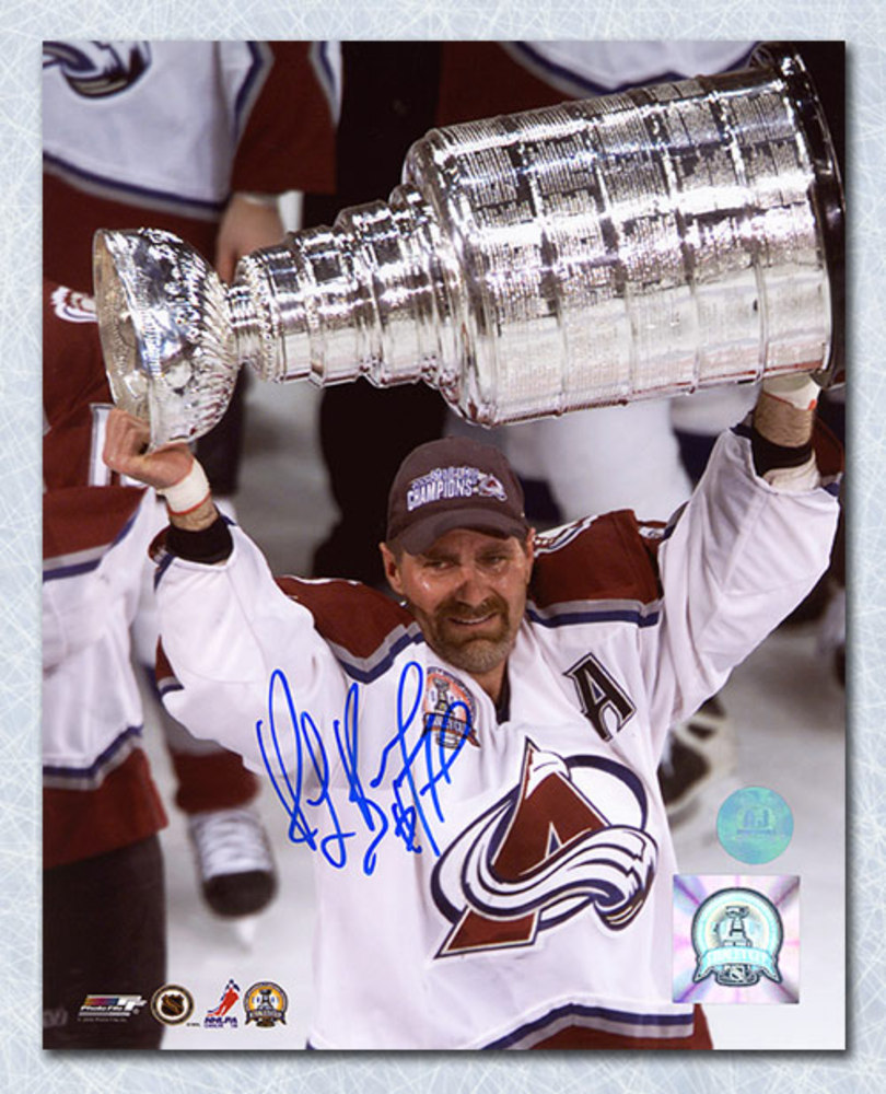 Ray Bourque Colorado Avalanche Autographed 2001 Stanley Cup 8x10 Photo