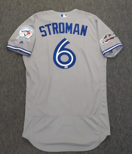 Photo of Authenticated Team Issued Postseason Jersey - #6 Marcus Stroman (2016 Postseason). Size 42.