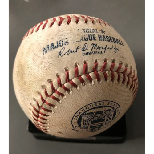 Trea Turner Game-Used Hit Single Baseball - May 20, 2017