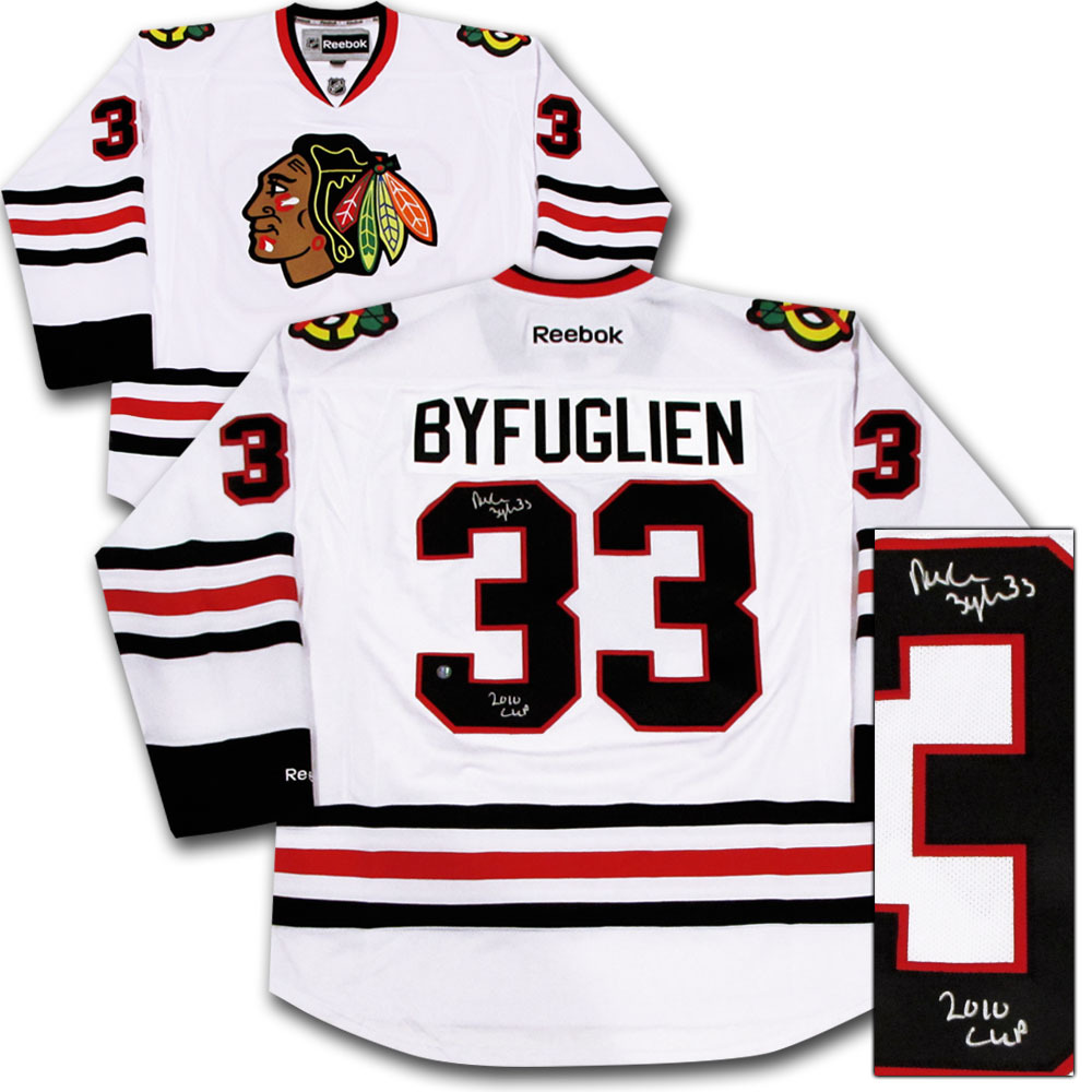 best website c3873 f9db5 Dustin Byfuglien Autographed Chicago Blackhawks Jersey w ...